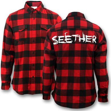 Seether Logo Flannel - Red & Black