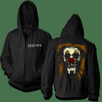 Seether Clown Face Zip Up Hoodie