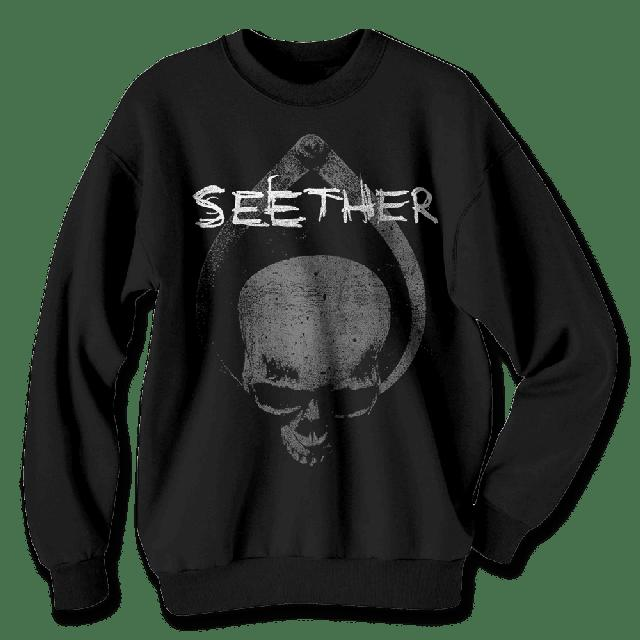 Seether Skull Clamp Crewneck