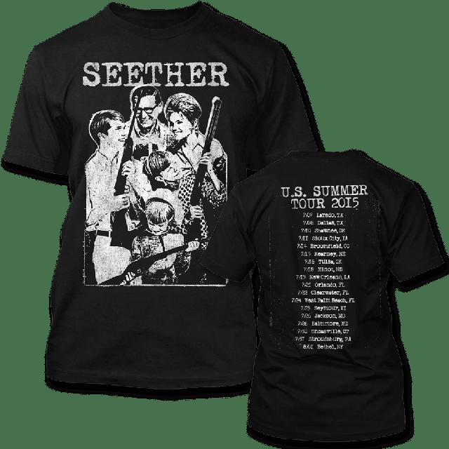 Seether Happy Family 2015 Tour T-shirt