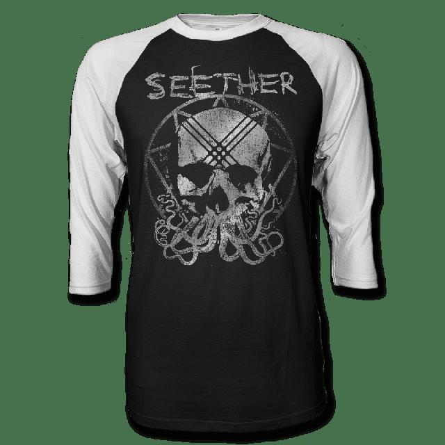 Seether Octoskull Raglan T-shirt