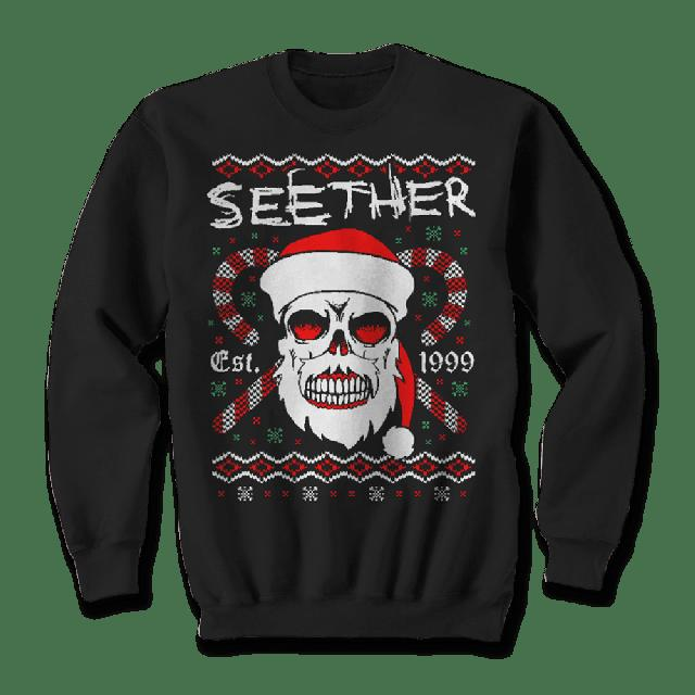 Seether Bad Santa Holiday Crewneck Sweater