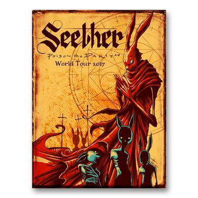 Seether Poison the Parish 2017 Tour Poster