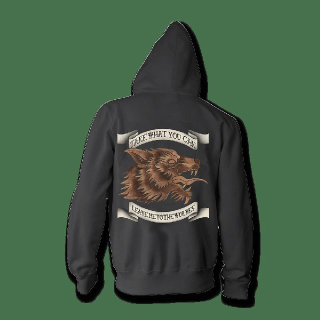 Seether Leave Me To The Wolves Zip Up Hoodie