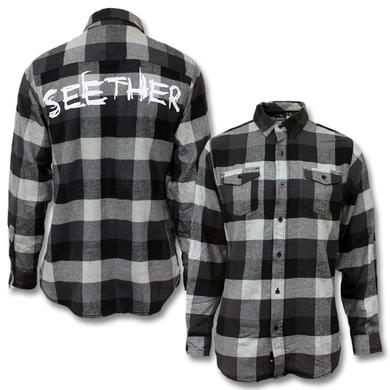 Seether Logo Flannel Shirt