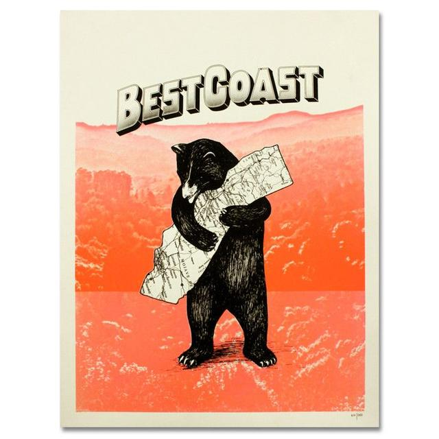 Best Coast The Only Place Screened Poster