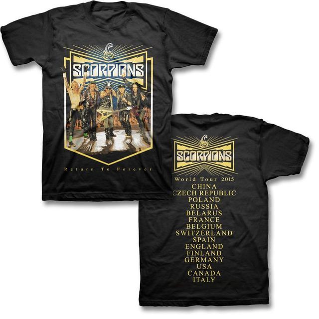 Scorpions Flying V World Tour T-shirt