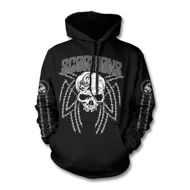 Scorpions Barbed Skull Pullover Hoodie