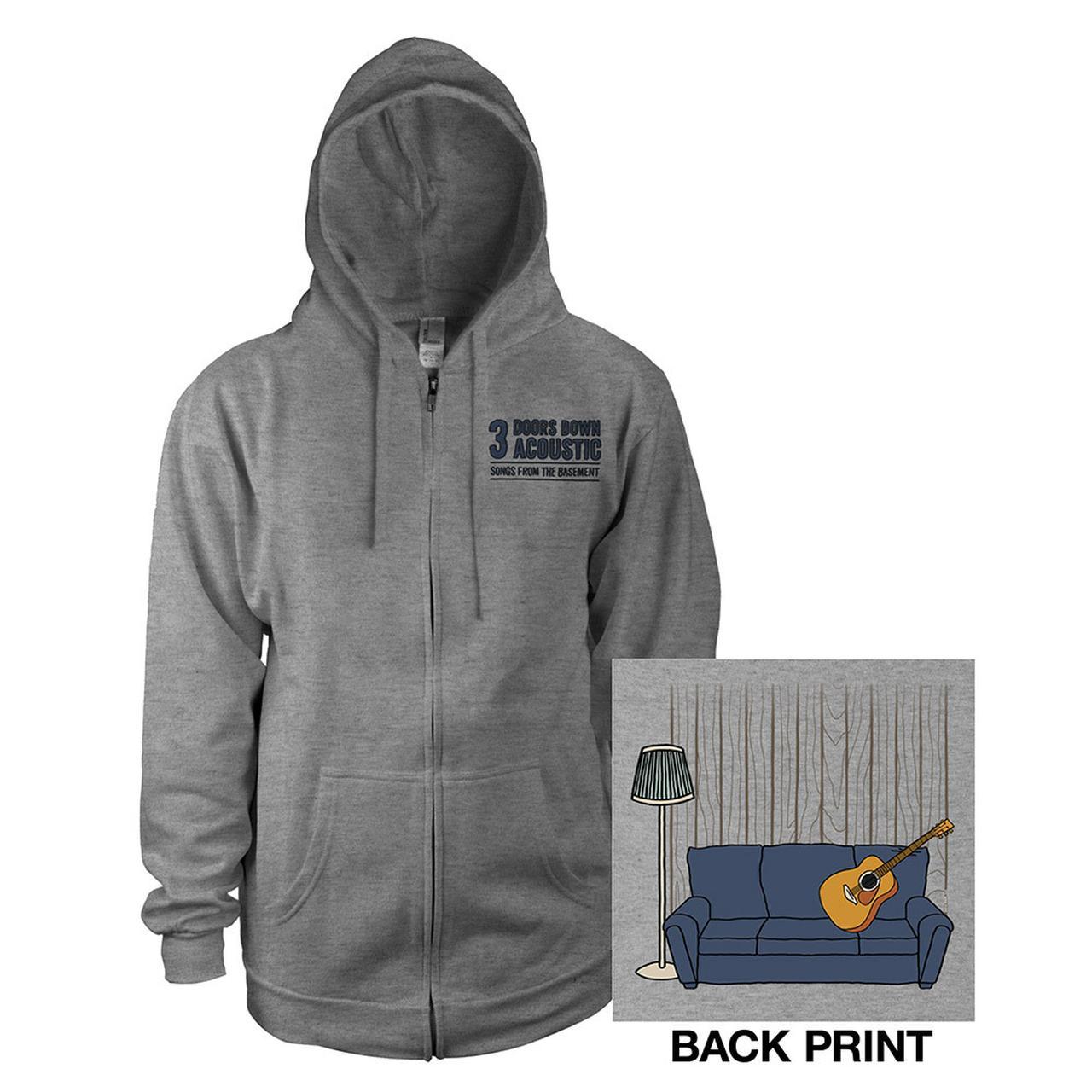 3 Doors Down. Acoustic Zip Hoodie  sc 1 st  Merchbar & 3 Doors Down Acoustic Zip Hoodie