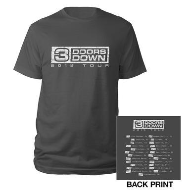 3 Doors Down Classic Logo 2015 Tour Tee