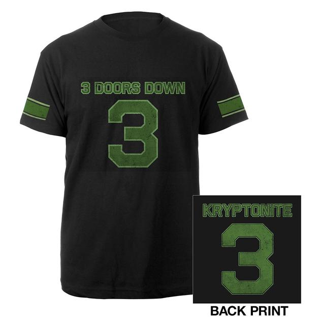 3 Doors Down Kryptonite Football Tee