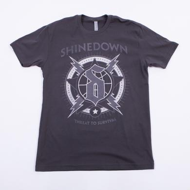 Shinedown Lightning Globe T-Shirt