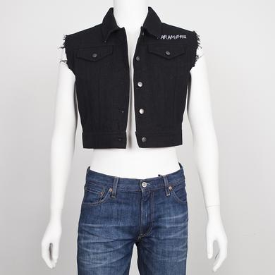 Paramore Vest | Frayed Denim