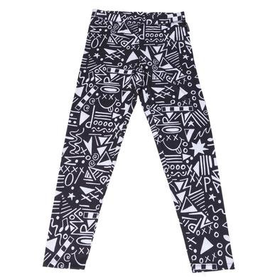 Paramore Leggings | Black Pattern
