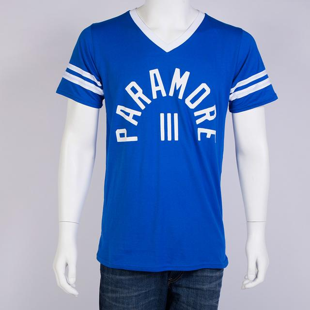 Paramore T-Shirt | Varsity Block V-Neck Stripe