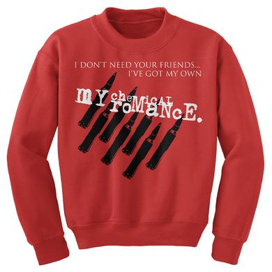 My Chemical Romance MCR Friends Red Crewneck Sweatshirt