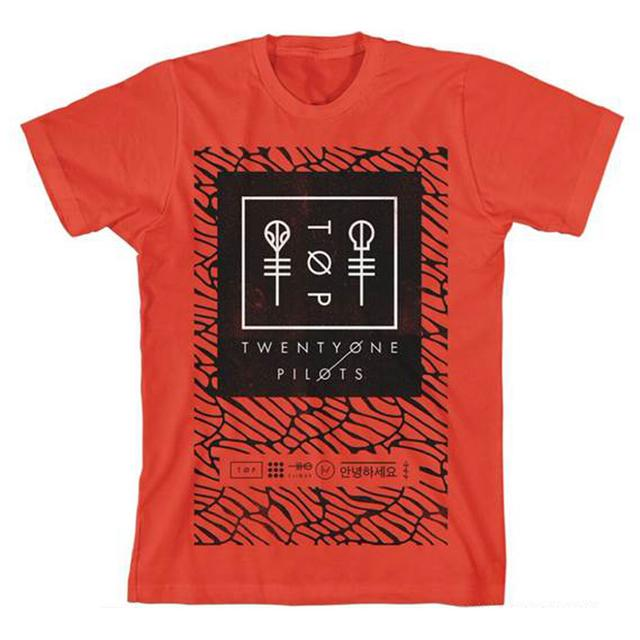 Twenty One Pilots Scale Panel T-Shirt (Red)