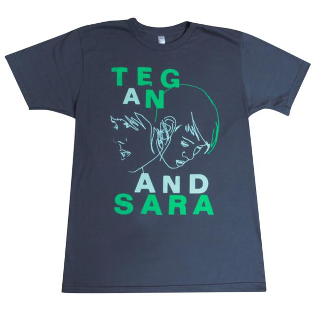 Tegan & Sara Green Outline Unisex T-Shirt