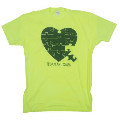 Tegan & Sara Heart Puzzle T-Shirt