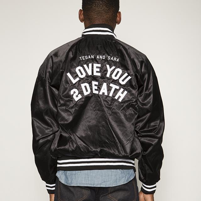 Tegan & Sara Love You To Death Satin Baseball Bomber Jacket