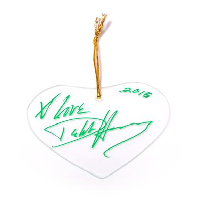 Blondie Heart Of Glass Signed Ornament
