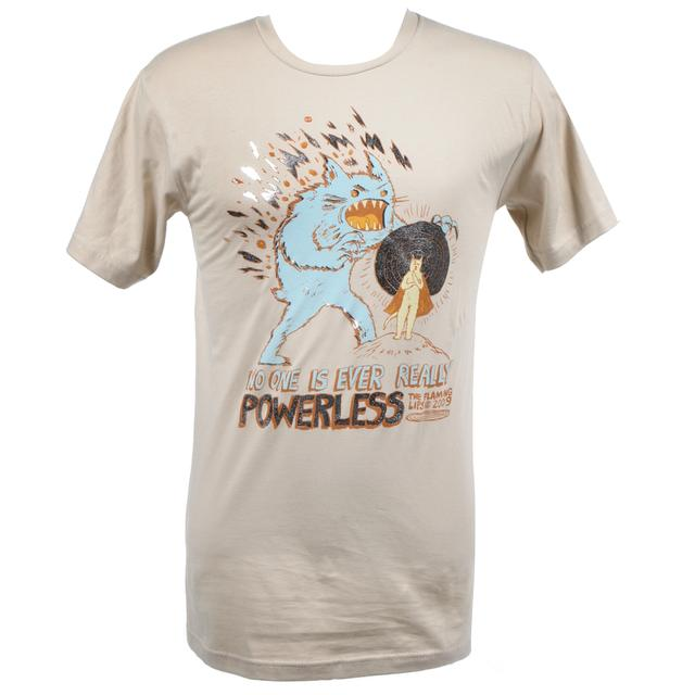 The Flaming Lips Powerless Tan T-Shirt
