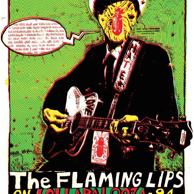 "The Flaming Lips Lolla 94 18""x24"" Screenprinted Lithograph"