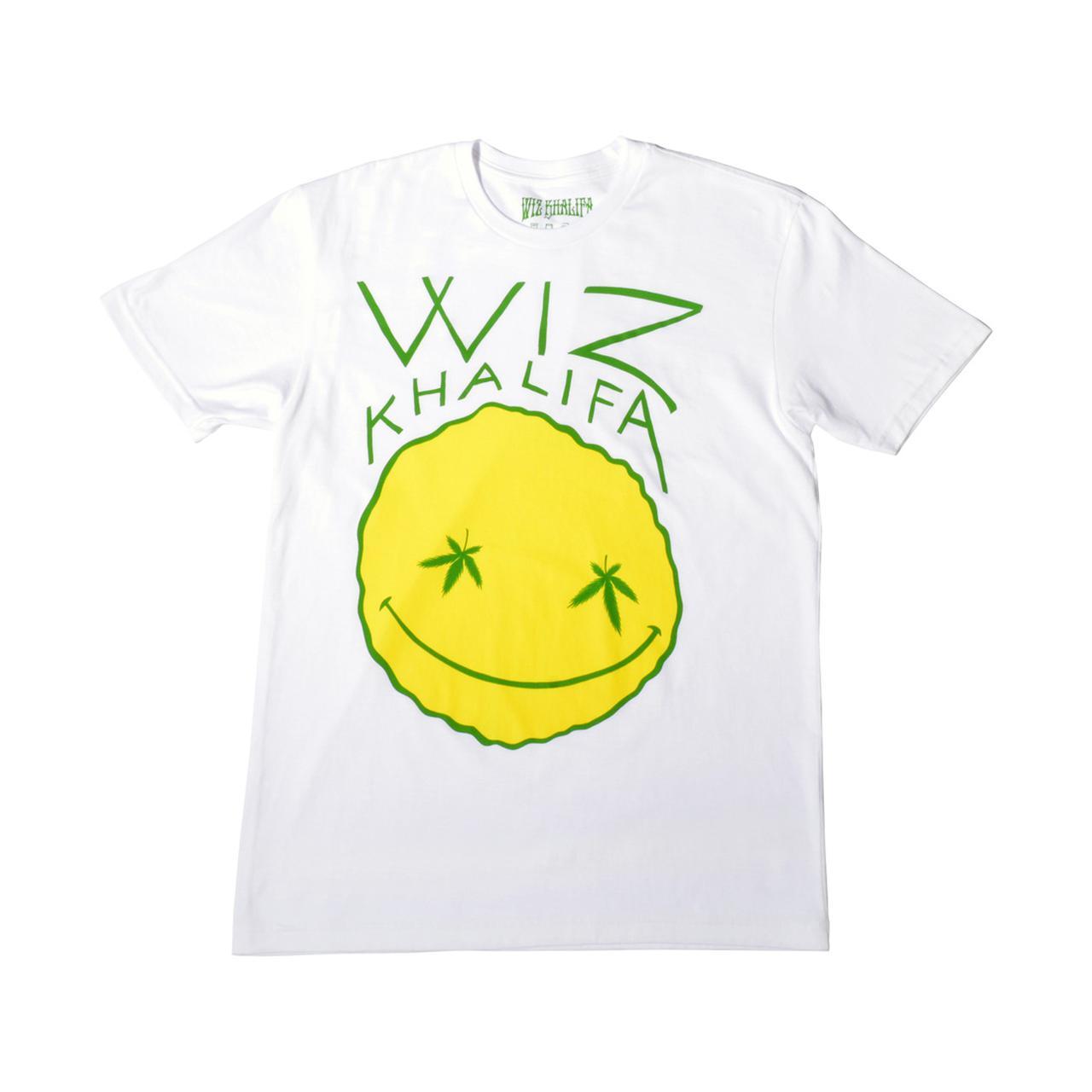 5d0df940509 Wiz Khalifa. Fat Line Smiley Slim Fit T-Shirt