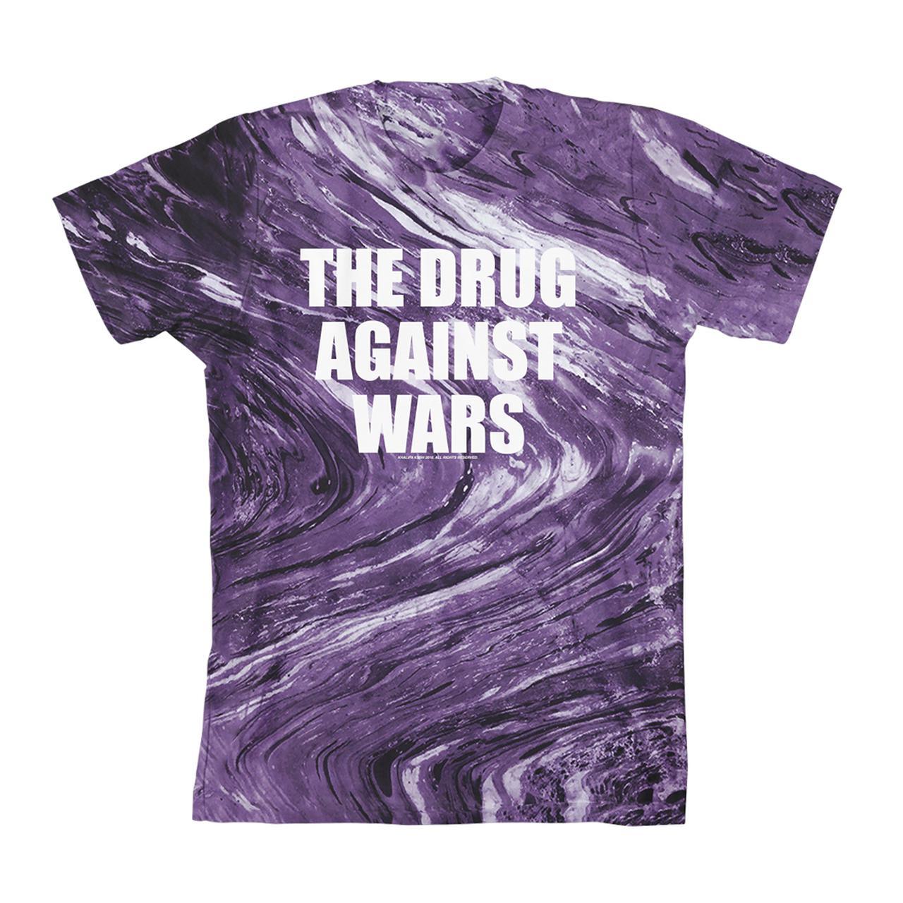 e8095f44b31 Wiz Khalifa Drug Against Wars Purple Tie Dye T-Shirt
