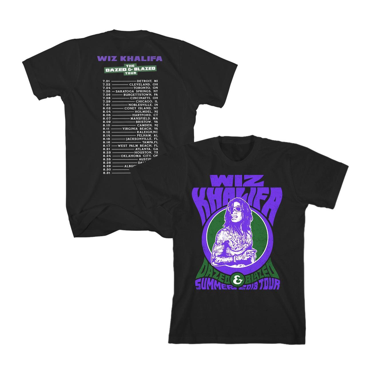 35789b30a09 Wiz Khalifa. Dazed and Blazed 2018 Tour T-Shirt