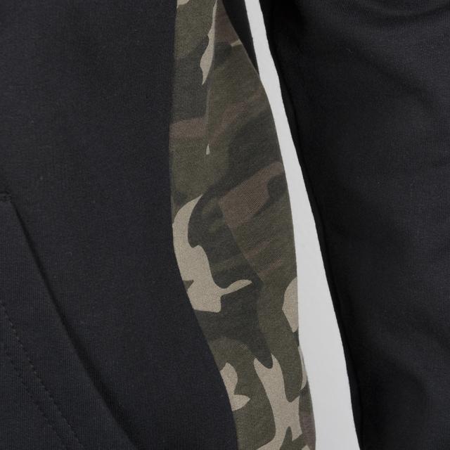 Wiz Khalifa Expert Men's Zip Hoodie with Camo Panel Details