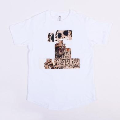 Wiz Khalifa Abstract Slim Fit T-Shirt (White)