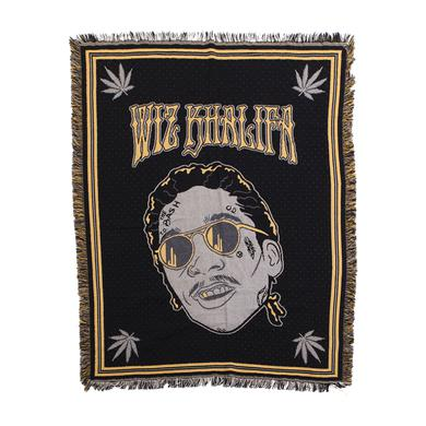 Wiz Khalifa Wiz Face Tapestry Blanket