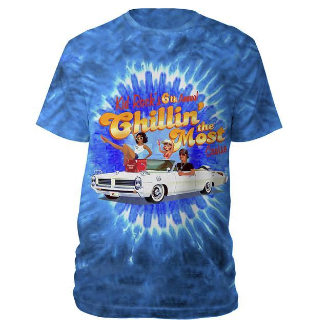 Kid Rock 6th Annual Chillin' The Most Cruise 2015 Tye Dye T-Shirt