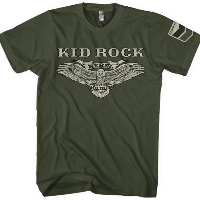Kid Rock Rebel Soldier Eagle Fan Club T-Shirt