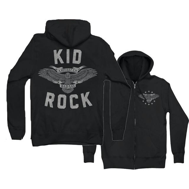 Kid Rock Eagle Shield Zip Hoodie