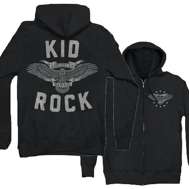 Kid Rock Eagle Shield Zip Hoodie