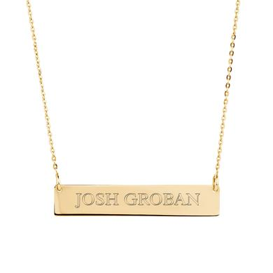 Josh Groban Gold Bar Necklace