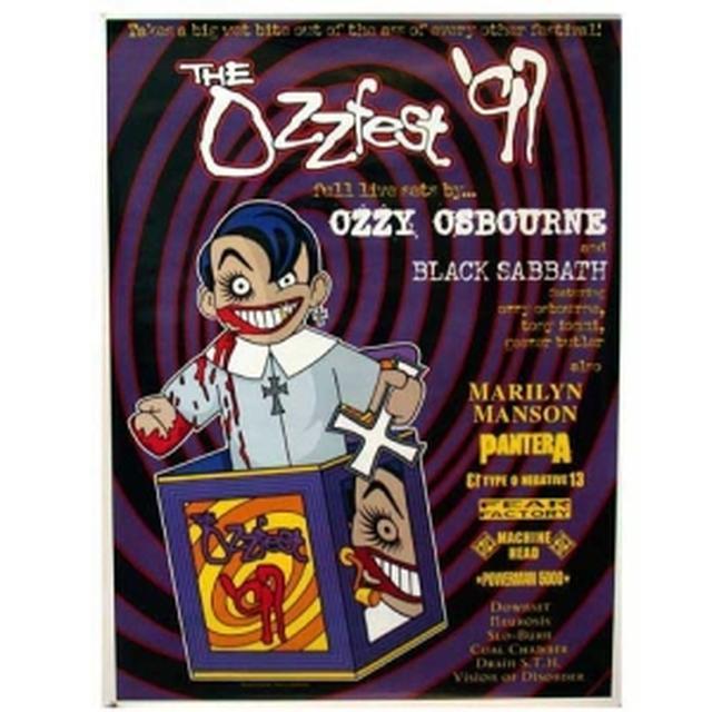 Ozzy Osbourne Ozzfest 1997 Ozzfest Tour Poster