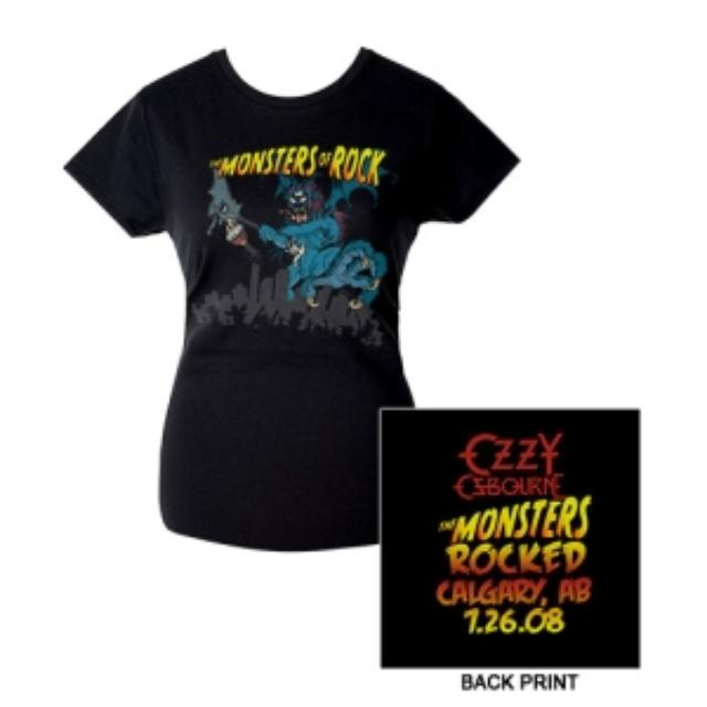 Ozzy Osbourne Monstrers Of Rock 2008 Calgary Edition Jr. Tee