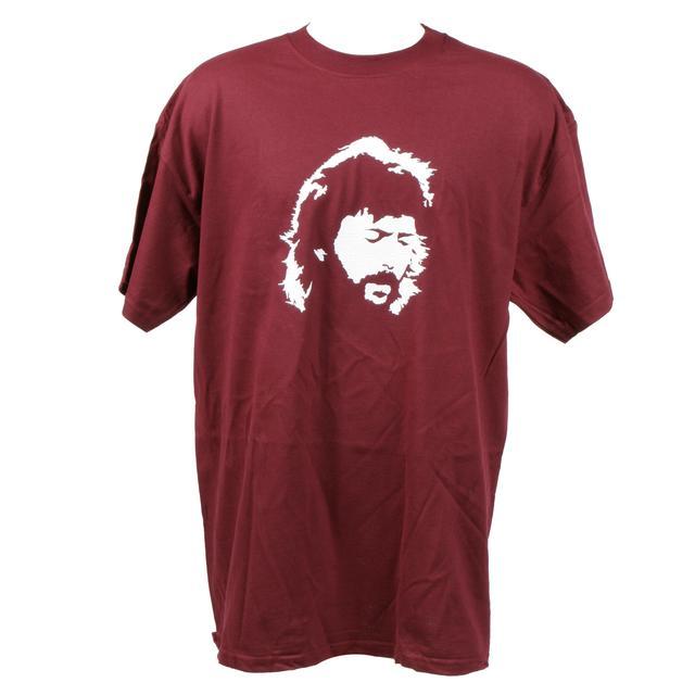 Eric Clapton Portrait Maroon T-Shirt