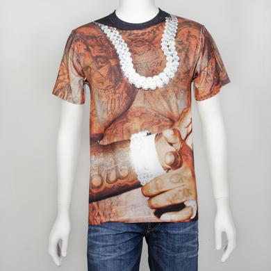 Rick Ross Body Tattoo Slim Fit T-Shirt