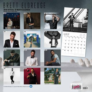 Brett Eldredge BE 2018 Calendar