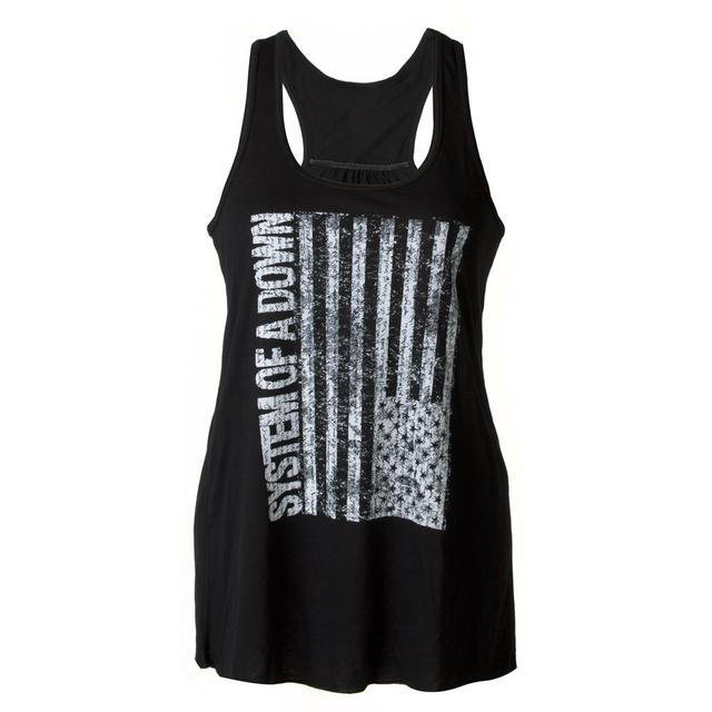 System Of A Down SOAD Sideways Flag Ladies Tank