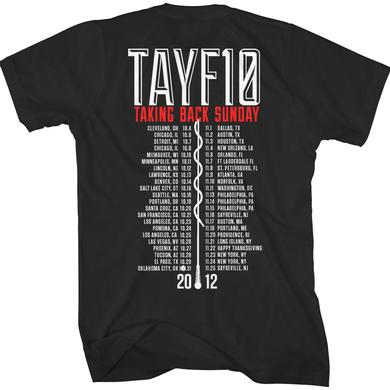 Taking Back Sunday TAYF10 Tour T-Shirt