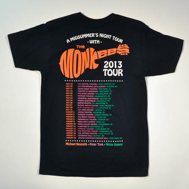 The Monkees OFFICIAL 2013 TOUR DATES T-SHIRT