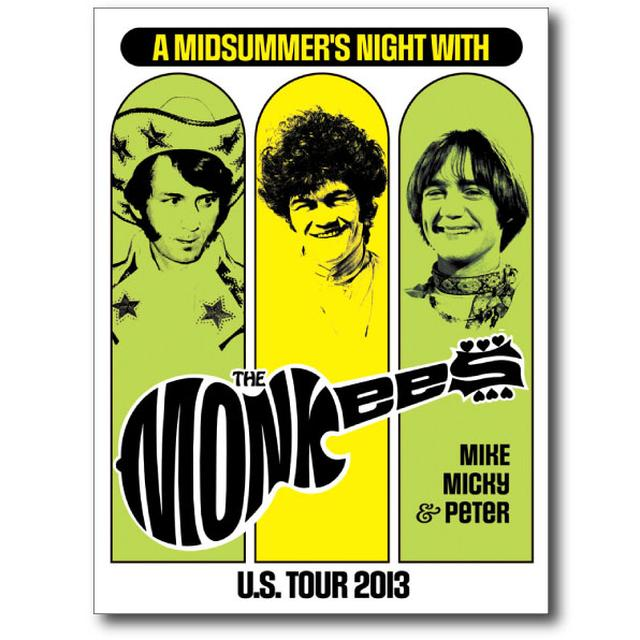 The Monkees Midsummers Night Tour Poster