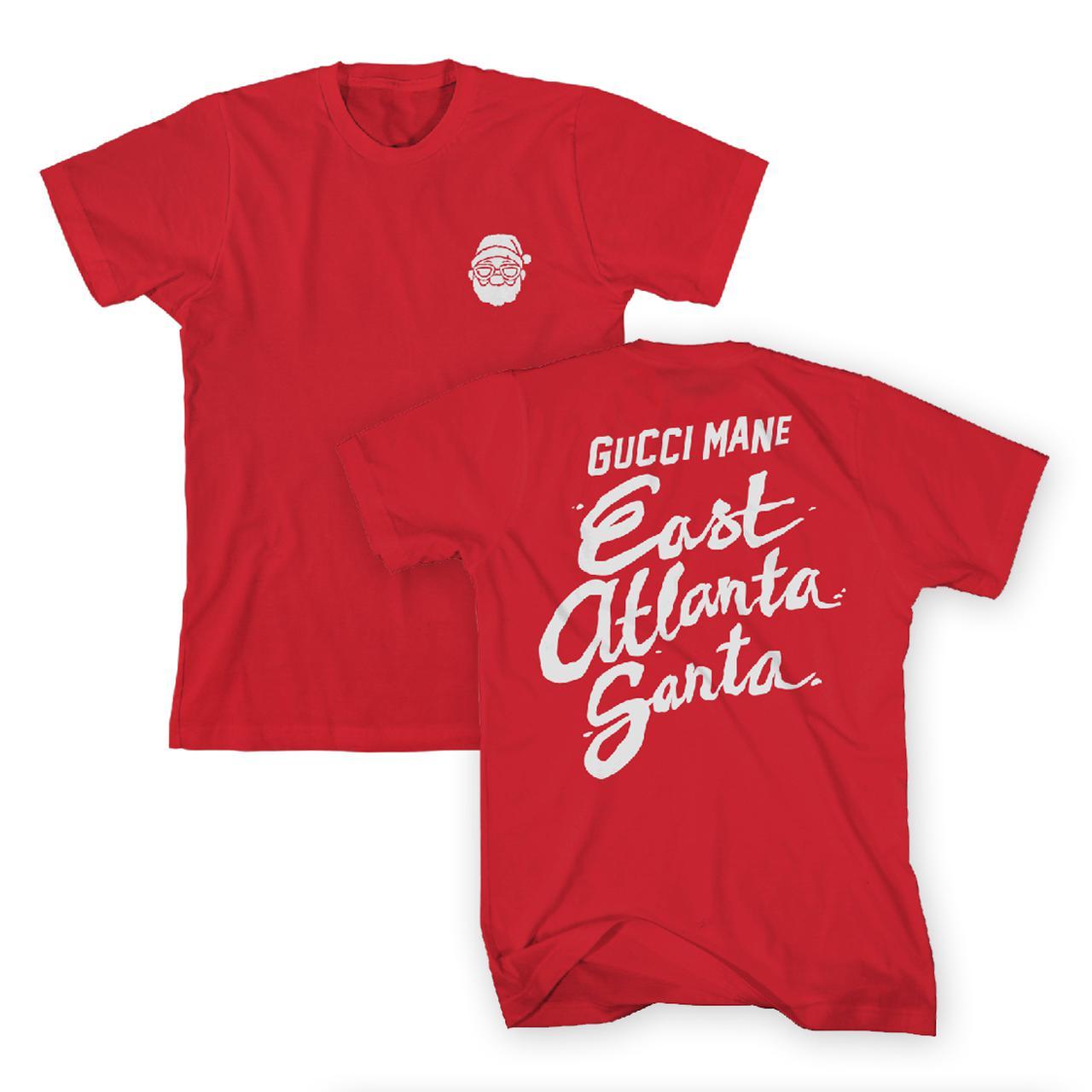 Gucci Mane East Atlanta Santa Head T Shirt