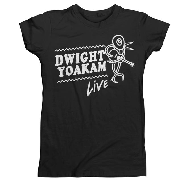 Dwight Yoakam Stick Figure Live Womens T-Shirt