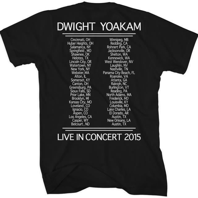 Dwight Yoakam Guitar Photo 2015 Tour Back T-Shirt